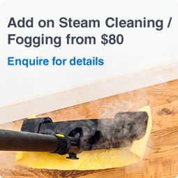 Add on Steam Cleaning or fogging from SGD 80